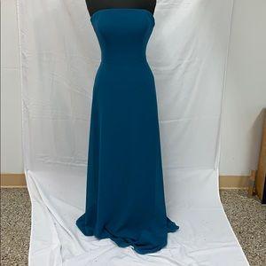 Long formal peacock dress
